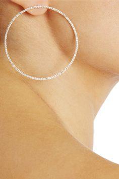 Anita Ko|Circle 18-karat rose gold diamond earrings|NET-A-PORTER.COM