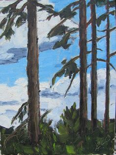 Evelyn Oldroyd's  Painting Blog: Spring Sky Painting Gallery, Art Blog, Sky, Spring, Artist, Heaven, Heavens, Artists