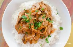 Beef Stroganoff, Slimming World Friendly. Slimming World Beef, Easy Slimming World Recipes, Slimming Word, Slimming World Dinners, Slimming Eats, Veal Recipes, Cooking Recipes, Healthy Recipes, Slimmers World Recipes
