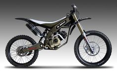 """The FX Mountain Moto is a game changer. The Mountain Moto developed by the company FX Bikes which has been variously described as the """"world's lightest off-road motorbike"""" or a """"new category mountain motorcycle"""" and only weighs kilograms). Motorized Mountain Bike, Motorized Bicycle, Mountain Biking, Mountian Bike, Bike Sketch, Tracker Motorcycle, Motorised Bike, Bike Engine, Trial Bike"""