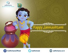 Special Wishes from #Callforloans™ on behalf of #krishna #Janmashtami and blessings from #Lord #krishna . #HappyJanmashtami