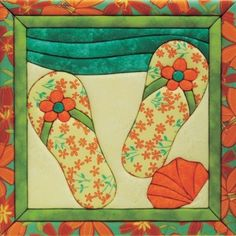 Summer  Flip   Quilt Seasonal    flop runner patterns  flip  Designs   table 816 quilt tropical Flops