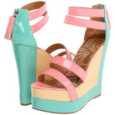 Matiko Echo ($151) ❤ liked on Polyvore featuring shoes, sandals, heels, wedges, zapatos, platform shoes, platform heel sandals, heel platform shoes, wedge heel sandals and synthetic shoes
