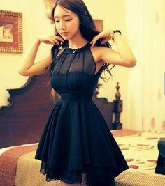 Women backless chiffon mini dress via fashionshow. Click on the image to see more!