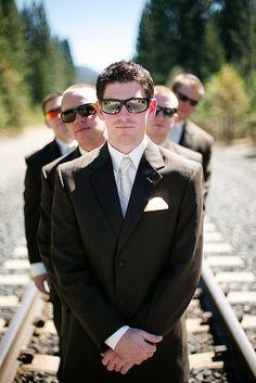 Cute for the groom. Little Men in Black inspired.
