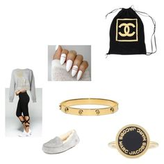 """""""Untitled #1312"""" by tal-haliva on Polyvore featuring Plein Sport, UGG, Tory Burch, Chanel and Marc Jacobs"""