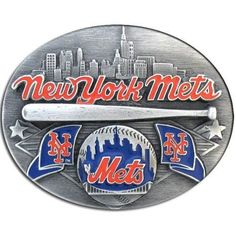 New York Mets MLB Enameled Belt Buckle