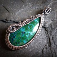 Chilean Chrysocolla in Sterling Silver by Julie Hulick if Copar Aingeal - sold