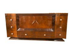 Art Deco Rosewood Credenza, steel hardware, needs stone top Art Deco Furniture, Furniture Making, Vintage Furniture, Art Et Architecture, Vintage Dressers, Credenza, Vintage Fashion, Vintage Style, Liquor Cabinet
