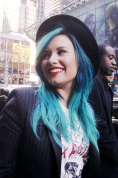 Demi Lovato greeting fans on her way to Good Morning America