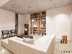 Salon - Styl Skandynawski - LAVA Projektowanie Wnętrz