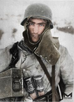 December 1942. Despair and hunger is writ large on the face of this German soldier. Stalingrad