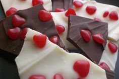 Valentine Bark from Food.com: Needing something quick to make for your child classmates or your co workers to think of them for Valentines day? Try Valentine bark--Quick, fast and easy to make.
