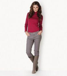 Five pocket elastic pants