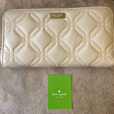 Kate spade Astor court quilted zip around wallet. Kate spade Astor court quilted zip around wallet. Has three inside compartments and change purse. Also has back pocket kate spade Bags Wallets