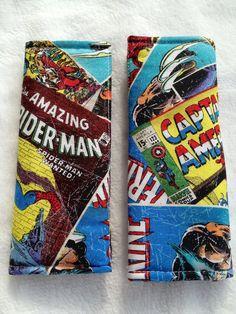 Marvel Comic Super Hero Car Seat Strap by FlyingVDesignsByMe, $8.00