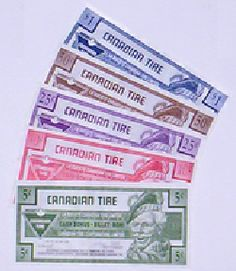 Canadian Tire Money-Canadian Tire Retail Stores,  Auto Repairs & Gas Bars.