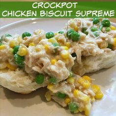 Crockpot Chicken Biscuit Supreme