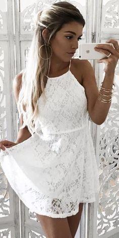 White Lace Dress                                                                             Source