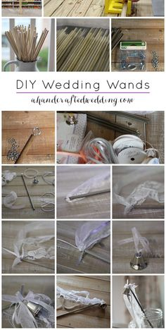 How to Make Ribbon Wedding Wands. Check out this tutorial on how to make DIY wedding wands for your ceremony or reception exit! ahandcraftedwedding.com