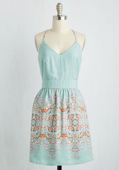 Patio Playlist Dress. The tunes on the terrace are lively, fresh, and downright fun - just like your mint sundress! #multi #modcloth