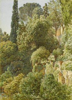 Sir Edward John Poynter, View over an Italian terrace, 1901