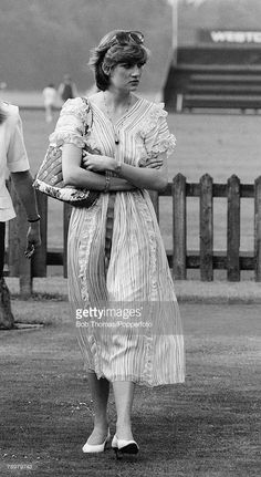 July Lady Diana Spencer at Windsor watching her fiancé, Prince Charles in a polo match. Lady Diana Spencer, Spencer Family, Charles And Diana, Prince Charles, Duke And Duchess, Duchess Of Cambridge, Polo Match, Royal Engagement, Diane