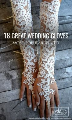 Popular Trend: Incredible Wedding Gloves ❤ Wedding gloves - very popular bridal accessory. It makes your look more aristocratical, magic, and gorgeous. Choose your own - be an irresistible bride. See more http://www.weddingforward.com/wedding-gloves/ # wedding #dresses