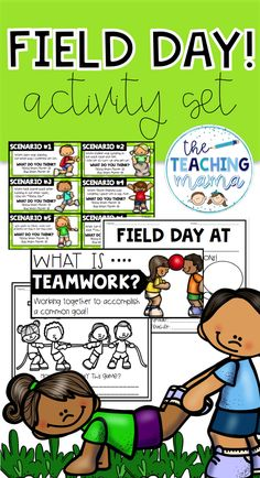 Fun activities to keep your learners engaged before and after your field day fun! This set also includes a mini-lesson on being a good team player to use before your class hits the field! Field Day Activities, End Of Year Activities, Learning Activities, Teaching Resources, Parent Communication, Team Player, Teacher Newsletter, Teacher Pay Teachers, Special Education
