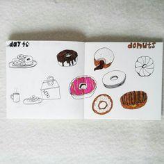 Day 46: donuts #sketchbook #creativebug