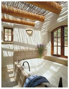 love the concept, would work great for creating privacy for hot tub placement, surrounding walls with vigas and open sky.