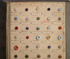 Little Green Notebook: Antique Button Sample Cards