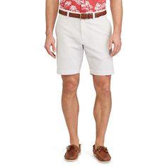 Men's Chaps Straight-Fit Seersucker Shorts, Size: 32, Beig/Green (Beig/Khaki)