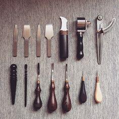 part of my tools #leatherwork #leatherbag #leathercraft #leathertools…