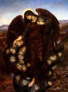 Evelyn de Morgan. The Angel of Death, 1890.   Website