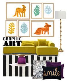 """gRAPHIC aRT"" by childofgod-97 ❤ liked on Polyvore featuring interior, interiors, interior design, home, home decor, interior decorating, Liora Manné, Mark McGinnis, Pillow Decor and graphicart"