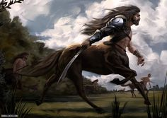 Art by JakeWBullock - There are few things as majestic or terrifying as a troop of centaurs on the charge