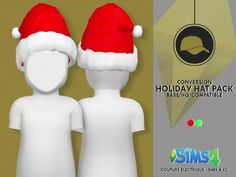 Holiday hat pack by coupure electrique. Los Sims 4 Mods, Sims 4 Cas Mods, Kids Christmas Outfits, Toddler Christmas, The Sims 4 Bebes, Sims 4 Cc Folder, Sims 4 Black Hair, Sims 4 Toddler, Holiday Hats