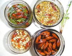 Herbal oils infusing for unguents and magical oils