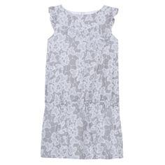 Robe en voile de coton imprimé gris perle - Edition spéciale