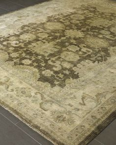 """""""Mocha Oushak"""" Rug by Exquisite Rugs at Horchow."""