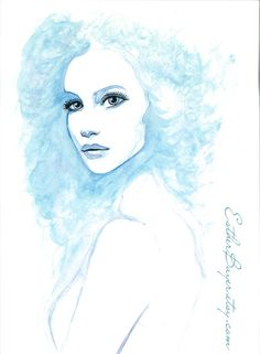 Original Watercolor & Ink Painting Fashion Illustration by Esther Bayer on Etsy, $299.00