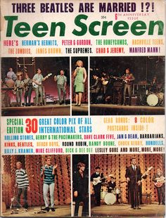 Lesley Gore - Teen Screen - January 1965 Lesley Gore, Vintage Magazines, I Party, Rolling Stones, The Beatles, January, Teen, The Rolling Stones, Beatles