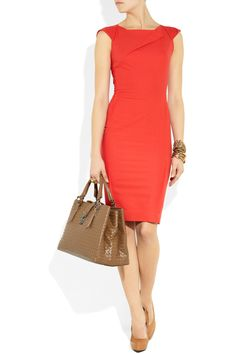 Love the orange hue of this Roland Mouret O'Hara origami-style crepe dress