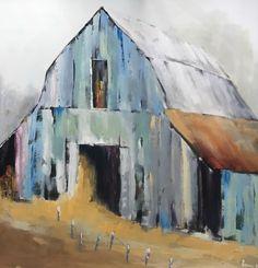 Original Art - The Trinity School in Atlanta photo taken by Kandrac & Kole Interior Design. Watercolor Barns, Watercolor Paintings, Acrylic Paintings, Watercolors, Barn Pictures, Pictures To Paint, Farmhouse Paintings, Barn Art, Old Barns