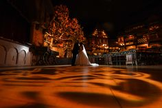 A wedding portrait inside of Biergarten within the Germany Pavilion in Epcot! Photo: Stephanie, Disney Fine Art Photography