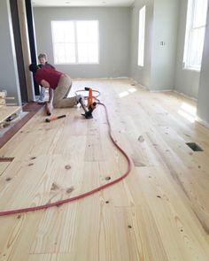 Diy Wide Plank Pine Floors Part 1 Installation Cheap