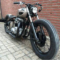 "Low bobber by @14cycles  (@lordofwheel) on Instagram:   #motorcycle #moto #bike #builtnotbought #retroride #vintage…"""