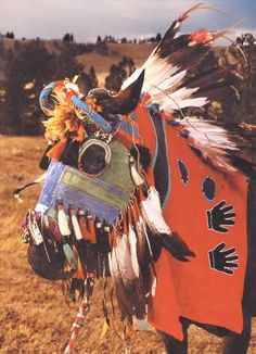Native American beaded horse masks