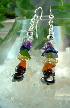 7 Chakras Beaded Earrings - chakra jewelry
